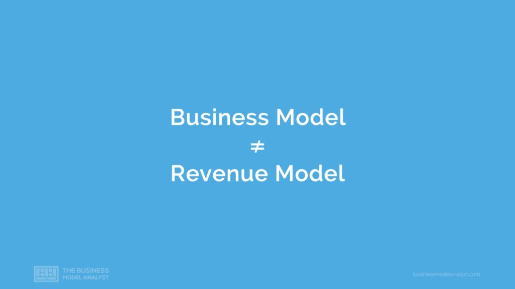 Business Model Different Revenue Model