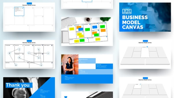 Business Model Canvas Presentation Template In Powerpoint
