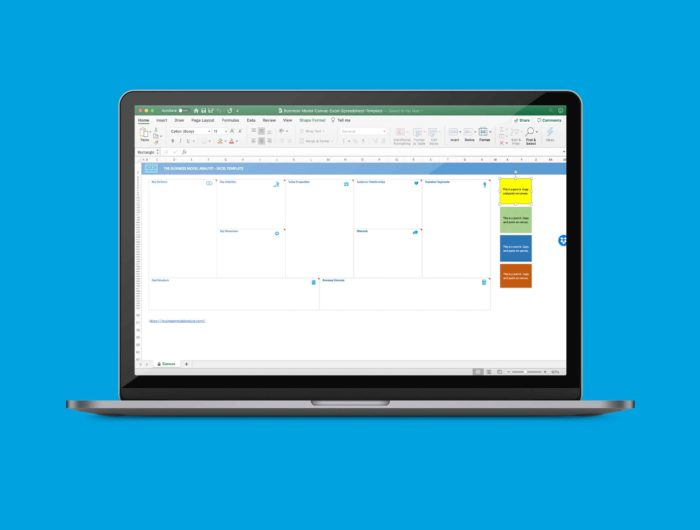 Business Model Canvas Template Excel Free