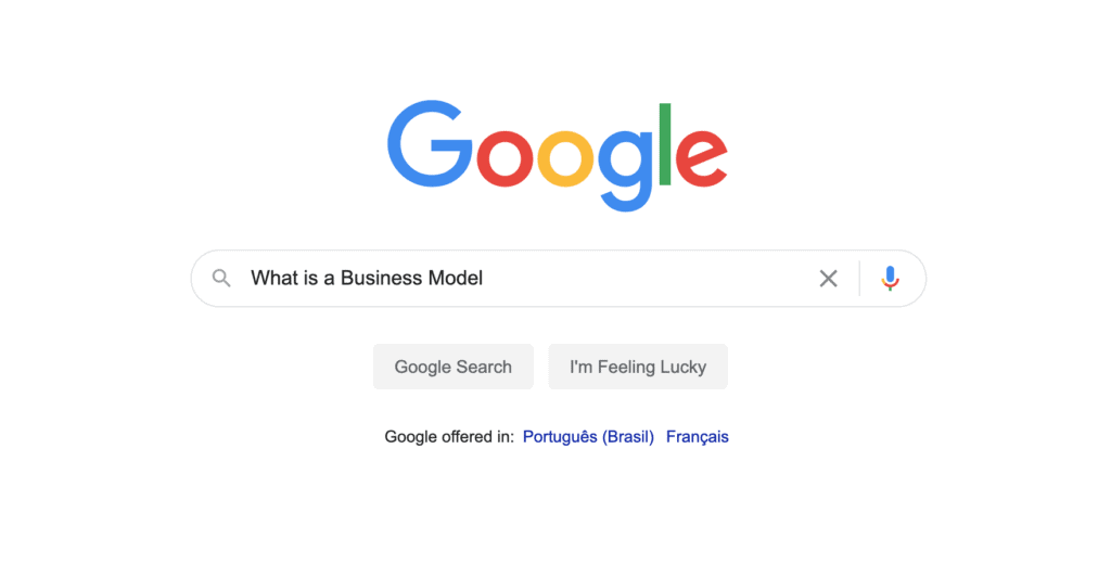 Business Model Google Search