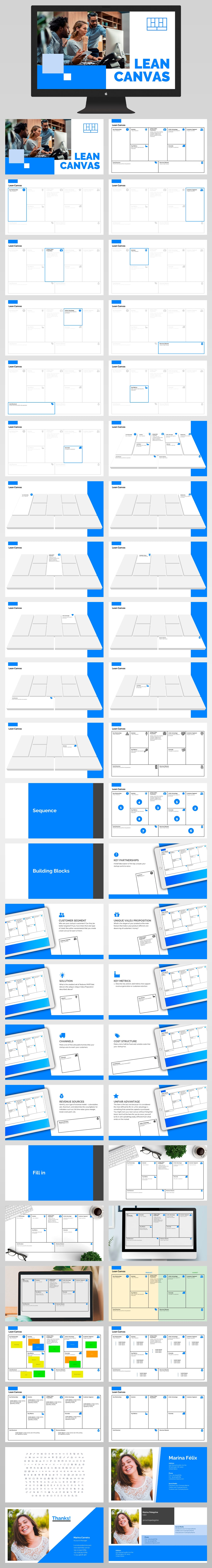 Lean Canvas Presentation Template Powerpoint All Slides Light