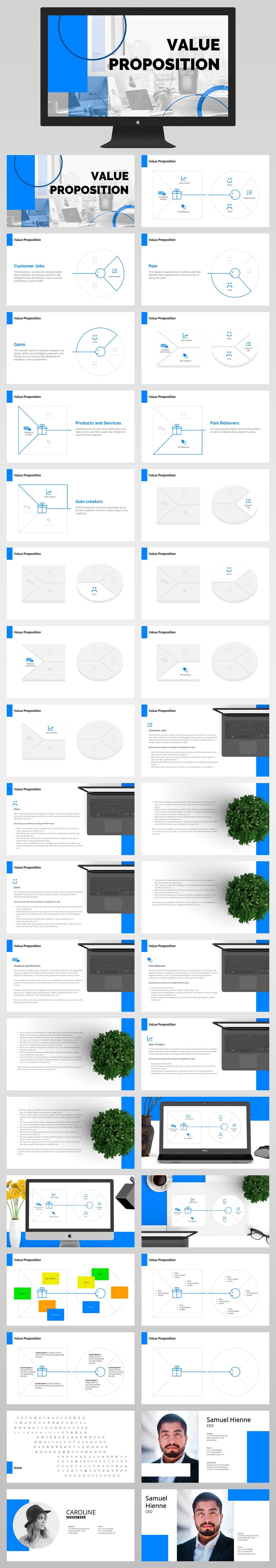 Value Presentation Template Powerpoint All Slides LIght